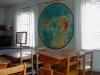 Skolsalen 5 med världskarta